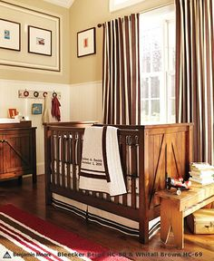 simple boy nursery. love the crib and changing table