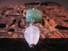 Adventurine Crystal Nugget Necklace  crystal by TriquetraBoutique