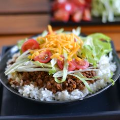 Taco rice is an adaptation of a favorite Mexican dish that is popular in Okinawa, Japan.  WJS