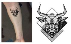 nice Tattoo Trends - Taurus Bull Geometric Dotwork Tattoo Design. Designer: Andrija Protic