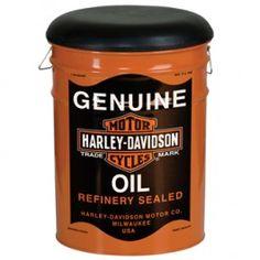 Harley-Davidson Oil Can Bucket Stool