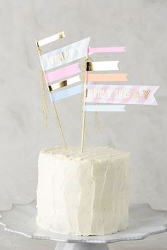 Happy Birthday Cake Flags - anthropologie.com #anthrofave