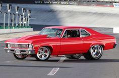 Pro Street 1970 Chevrolet Nova is a Slice of American Pie Hot R General Motors, Jaguar, Gp Moto, American Muscle Cars, American Pie, Crate Engines, Chevy Muscle Cars, Pt Cruiser, Chevy Nova