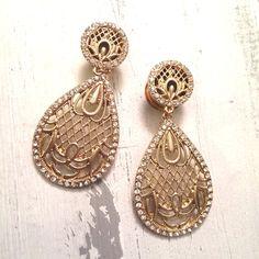 """0g - 3/4"""" gold lace dangle - Plugs Gauges Wedding Plugs on Etsy, $33.25"""