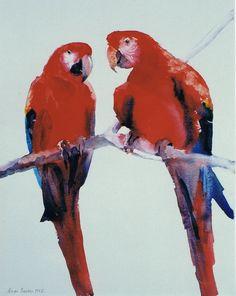Brian Baxter: Scarlet  Macaws Scarlet, Parrot, Birds, Painting, Animals, Parrot Bird, Animales, Animaux, Bird