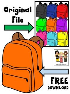 FREE backpack clip art. This freebie includes 1 orange backpack. The image is saved at a high resolution with no white background.Sampled from BACKPACK CLIP ART. The original clip art file is available for $3.00. ****************************************Molly Tillyer CLIP ARTTerms of UseARTClip art cannot be altered, resold, shared, or used to create new clip art.Cannot be used for graphic-centric products.