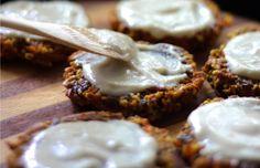Carrot Cake Cookies With Lemon Cream Frosting [Vegan]