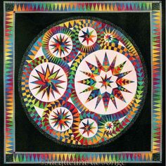 """""""Infinity"""" a brand new """"Jacqueline de Jonge design"""" made in the bright Rainbow collection from Anthology Fabrics."""