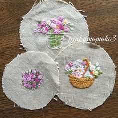 . . 大好きな花刺繍。。。 . #embroidery #embroidaryfloss #embroiderydesign…