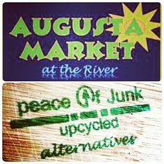 PEACE OF JUNK will be at the #Saturday #Market on the #Riverwalk ! #Pray the weather permits!! Located at Reynolds & 8th Street  8-2pm, the Riverwalk!  #augustamarketontheriver #handmade #upcycle #recycle #ONEOFAKIND #collectibles #Jewelry  #jewellery #blog #hair #accessories #abstract #word #art #peace #Augusta #PeaceofJunk #NAMASTE  ♻www.peaceofjunk.com❤ 25% off all #September long! ♎ Code: HANDMADE