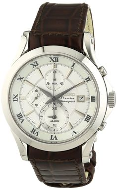 Seiko men watches : Brown leather watches for men