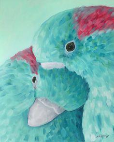 Turquoise lovebirds