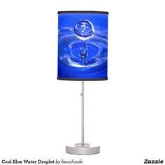 Cool Blue Water Droplet Desk Lamp