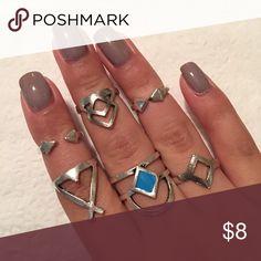 Set of 6 rings Set of 6 adjustable rings Jewelry Rings