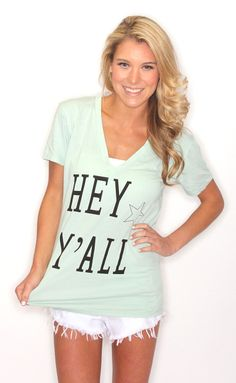 hey y'all v-neck [mint]