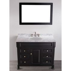 "Bosconi 43"" Contemporary Single Vanity in Black - SB-278"