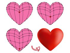 "Follow this tutorial and learn how to create a set of cute heart icons: a ""Love you"" banner heart, a broken, a post-it note and a devil heart. The heart is made with the help of the Mesh Tool (U) in Adobe Illustrator and it's rather easy to create as well. You will also discover other techniques so let's begin! 