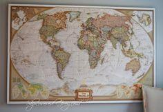 Diy cork board map diy cork board cork boards and cork world map wall art gumiabroncs Images