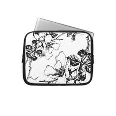 $25.95 Designer Vintage Floral Laptop Sleeve http://www.zazzle.com/milalala?rf=238108303832048232