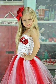 Newborn Size 9 Christmas Tutu Dress by krystalhylton on Etsy