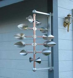 copper kinetic sculptures for sale by artists   At my studio (for sale!)