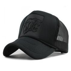 59770648d9e81 Black Leopard Print Summer Mesh Baseball Cap. Cool Baseball CapsBaseball  HatsCustom CapsSnapback ...