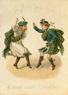 'For Auld Lang Syne - A Right Merry Christmas' (colour litho) Wall Art Prints by English School