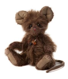 """Charlie Bear Hiccup 6.5"""" Mohair Mouse http://www.toniscollectibles.com/teddy-bears-and-other-animals/charlie-bear-hiccup-6-5-mohair-mouse.html"""