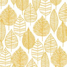 Eloise Renouf - Bark and Branch - Line Leaf in Gold