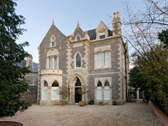 Find properties to buy in Leigh Woods with the UK's largest data-driven property portal. View our wide selection of houses and flats for sale in Leigh Woods. Gothic House, Victorian Gothic, Victorian Homes, Gothic Revival Architecture, Historical Architecture, Victoria Building, Gothic Interior, Gothic Windows, Sims House Plans