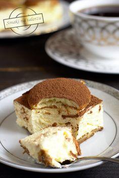 Serowe cappuccino – bez pieczenia – Smaki na talerzu Polish Desserts, Polish Recipes, Sweet Recipes, Cake Recipes, Dessert Recipes, Cappuccino Cheesecake Recipe, Low Carb Side Dishes, Mini Foods, Artisan Bread
