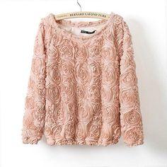 Beautiful rose sweatshirt
