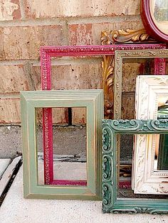 Upcycled - French Victorian Boudoir - Vintage Picture Frame Collection - Cottage CHIC. $99.95, via Etsy.