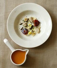 Delicious Salmorejo Gazpacho with Strawberries and Quail Eggs Recipe from @chefjosegarce #LatinRoadHome cookbook