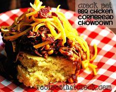BBQ Chicken Chowdown #Crockpot #SlowCooker
