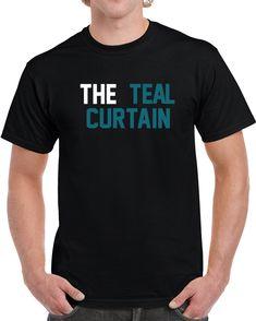 Jacksonville Football Team The Teal Curtain T Shirt Jacksonville Football af5ac76bd