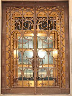 Art Deco Gates, Mersey House, Fleet Street
