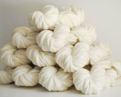 Yarn for Dyeing - 10 skeins of Handspun Bulky Thick and Thin Merino Wool Yarn - 500 yards
