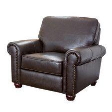 Loretta Leather Arm Chair
