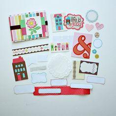 Sweet Stripes 4x6 Folded Mini Album Kit Echo Park Life by waveney