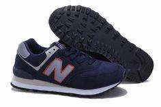 Joes New Balance ML574NR Deep Blue Red edge Grey Mens Shoes