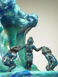 Camille Claudel, La Vague, detail, onyx and bronze, 1897, Musée Rodin Paris. See: www.fb.com/camilleclaudelstatuaire