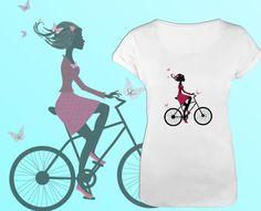 Koszulka damska PALMA biała z nadrukiem WZORY S