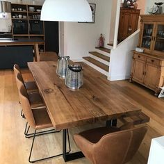 Dining tables made of oak wood from Holwerk-Hamburg - Esstisch - Living Room Table Dining Room Design, Dining Room Table, Solid Wood Table, Long Wood Table, Oak Table, Diy Kitchen Storage, Coffee Table With Storage, Wooden Tables, Home Kitchens