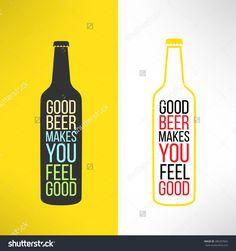 Vector beer bottle design background with a cool slogan on it. Bar poster design element.