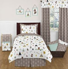 Twin Outdoor Adventure Print Kids Bedding Set Twin Comforter Sets, Kids Bedding Sets, Teen Bedding, King Comforter, Arrow Bedding, Twin Beds For Boys, Cozy Bed, Bedding Collections, Luxury Bedding