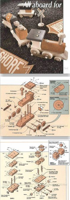Wooden Train Plans - Wooden Toy Plans and Projects | WoodArchivist.com
