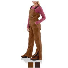 Carhartt Women s Sandstone Bib Overall-Quilt Lined WR027 Farm Clothes 3f210b272