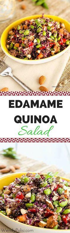 Edamame Quinoa Salad - WendyPolisi.com