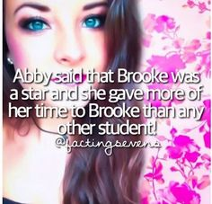 This may be true and I LIVE BROOKE but they should show this more often in the show